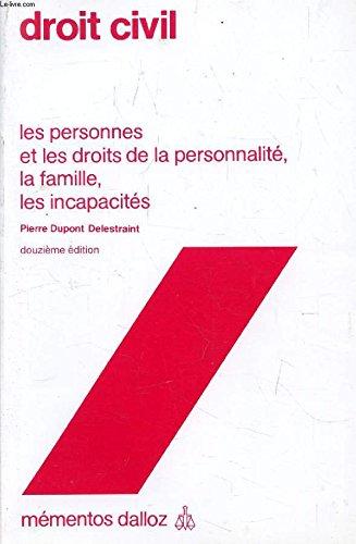 Droit civil (Mémentos Dalloz) par DUPONT DELESTRAINT Pierre