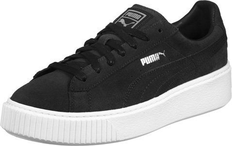 Puma Suede Platform, Sneakers Basses Femme Nero