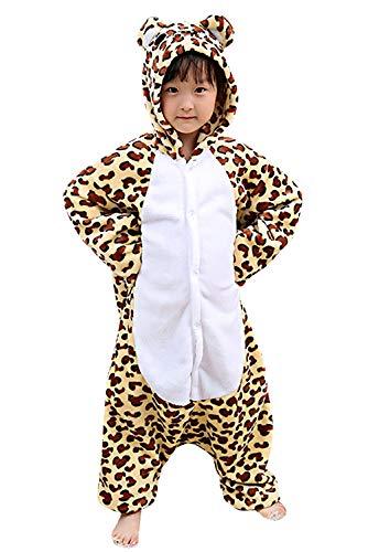 Dolamen Kinder Unisex Jumpsuits Kostüm Tier Onesie Nachthemd Schlafanzug Kapuzenpullover Nachtwäsche Cosplay Kigurum Fastnachtskostuem Weihnachten Halloween (Höhe 120-130CM (47