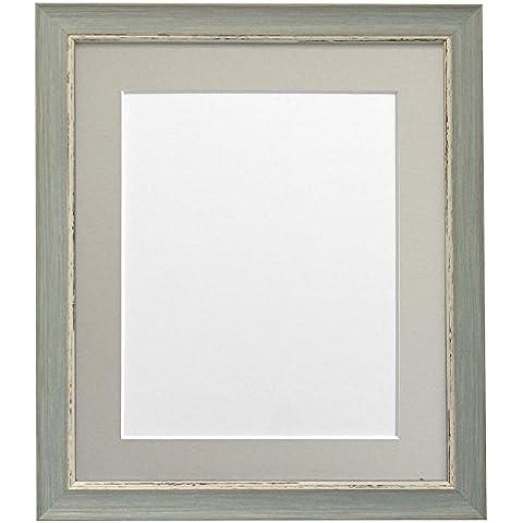 Frames By Post Nordic cornice portafoto con rosa, bianco, nero, avorio, rosa, azzurro, grigio, Grigio chiaro e grigio scuro, schermo piatto, plastica, Light Grey Mount, 24