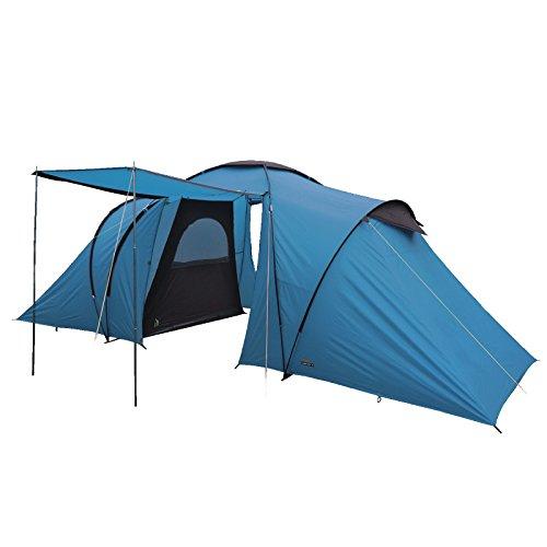 High-Peak-Como-4-Personen-Familienzelt-wasserdicht-mit-Stehhhe-und-Vordach-blau