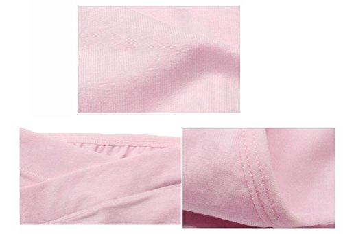Feicuan Enceinte Culotte Femme Low Waist Underpants Soft Coton Sous-Vetement (Pack of 3) Pink,Purple,Yellow