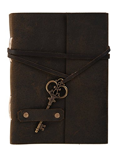 DI-Kraft Handmade Classic Key Lock Design Leather Notebook Journal for Gift