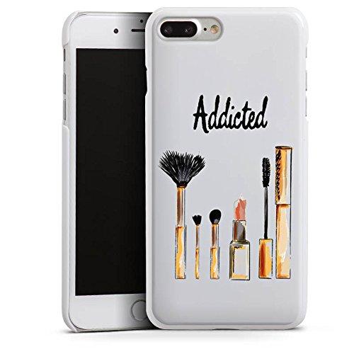 Apple iPhone 8 Tasche Hülle Flip Case Make Up Kosmetik Lippenstift Hard Case weiß