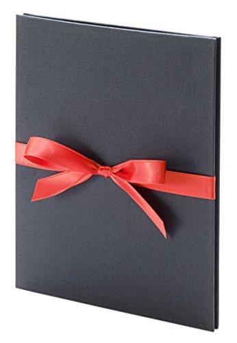 Erno Lori Leporello 13x18 schwarz mit Band in rot für 10 Bilder