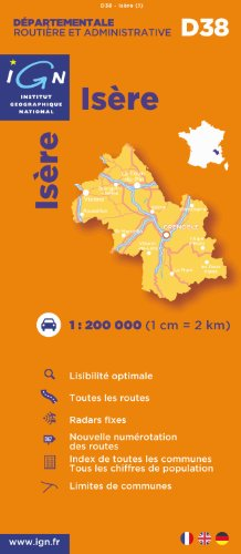 Isère : 1/200000