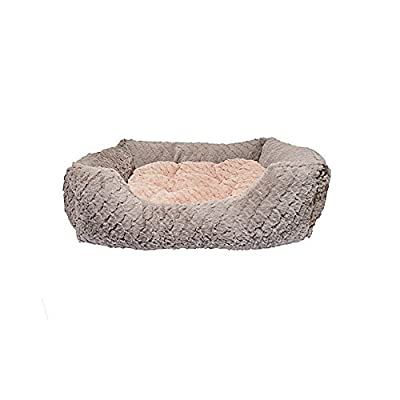 Rosewood Fabric Reversible Cushion Square Plush Dog Bed
