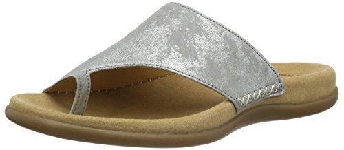 Gabor Shoes 43.700 Damen Pantoletten ,Grau (60 grau) ,37 EU