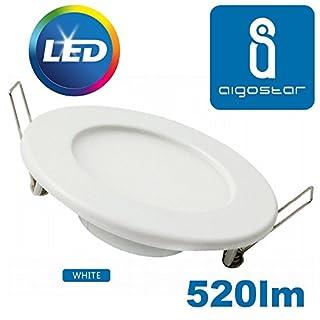 Recessed Led E6 Slim Downlight 9w 6000K Round Flat Panel Display Light Fitting Suspended Ceiling Slim Cool Daylight White Spot Lamp Office, Shop, Hallway, Bedroom Lighting 860 115mm Mains 240v