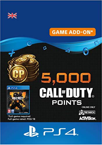 5,000 Call of Duty : Black Ops 4 Points - 5000 Points DLC | PS4/PS3 Download Code - UK Account