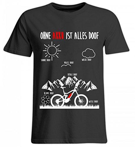 Hochwertiges Übergrößenshirt - OHNE AKKU IST ALLES DOOF - Ebike und EMTB Shirt
