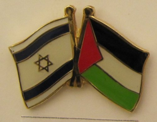 Israel / Palästina Freundschafts Pin Anstecker Flagge Fahne Nationalflagge Doppelpin Flaggenpin Badge Button Flaggen Clip Anstecknadel