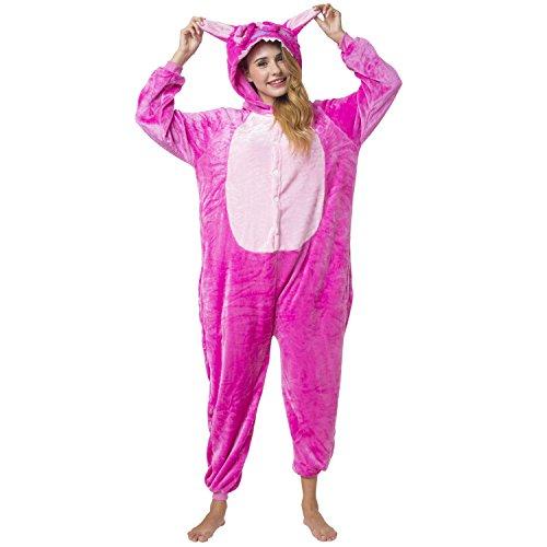 Imagen de kigurumi pijama disfraz de lilo y stitch rosa traje de dormir para adultos unisex  ideal para cosplay  costume con capucha xl alternativa