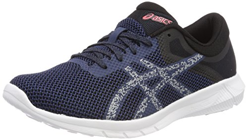 ASICS Men's Dark Blue/Mid Grey/Coralicious Running Shoes-10 UK/India (45 EU) (11 US) (T7E3N.4996)
