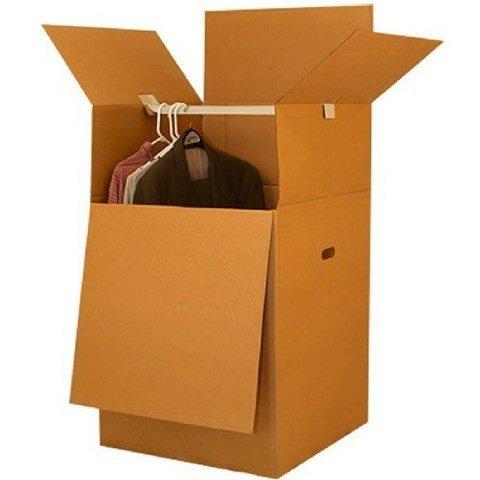 uboxes Shorty platzsparende Kleiderschrank Umzugskartons 50,8x 50,8x 86,4cm Umzugskartons, 1er Pack, Kraft/Wellpappe (boxminiwar01)