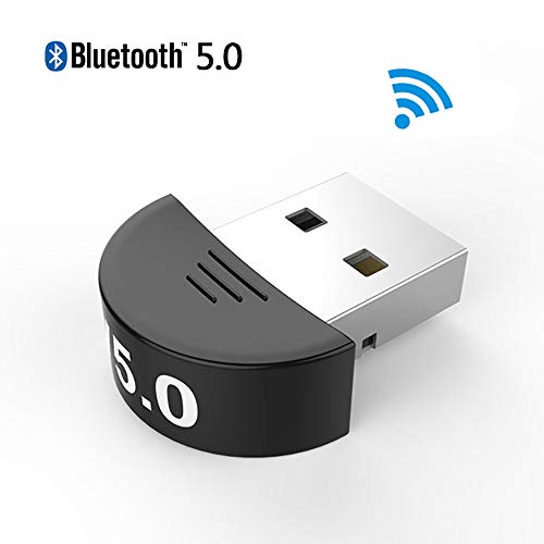 H&T Bluetooth 5.0 Adapter USB CSR Bluetooth Dongle Adapter, drahtloser Bluetooth Sender Empfänger für Laptop PC Computer Bluetooth-headset Audio Gateway