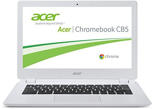 Acer Chromebook CB5-311-T6R7 33,8 cm (13,3 Zoll) Notebook (NVIDIA NV Tegra K1, 2,1 GHz, 4GB RAM, 32GB eMMC, Full-HD, Chrome OS) weiß