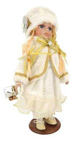 VMWB Coleccionable de porcelana muñeco con función atril de madera
