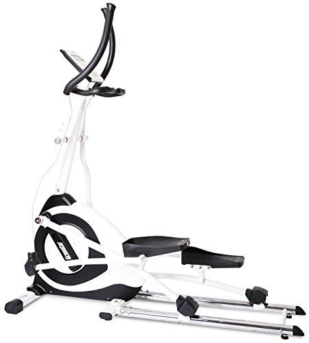 Gregster Crosstrainer Ellipsentrainer Ergometer, Heimtrainer, viele Trainingsprogramm, gelenkschonender Bewegungsablauf, Platzsparend und stabil, Benutzergewicht bis 130 kg