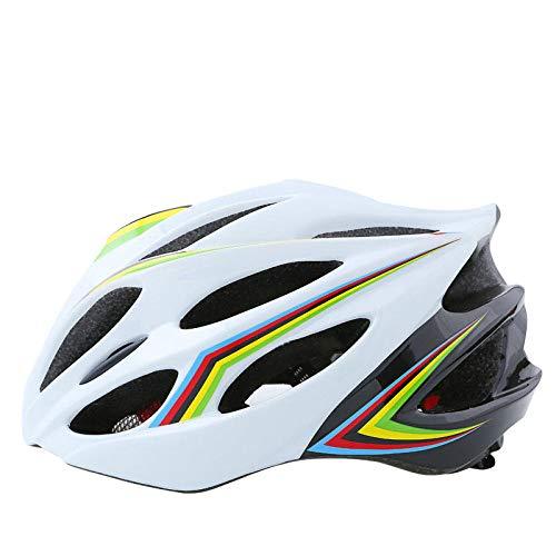 Cascos Bici Bicicleta Camino Mountain Biking Motocicleta Hombres Mujeres Adultos,Casco equilibrado para Hombre con mosquitera, Casco rígido para Bicicleta de Carretera @A