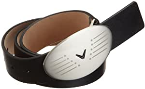 Callaway Men's Full Grain Leather Belt, Size 34 (Black)