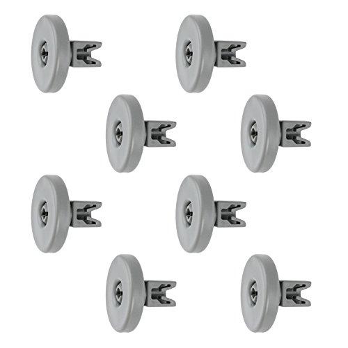 SPARES2GO Cestino Porta Ruote per lavastoviglie whirlpool, grande (Confezione da 8)