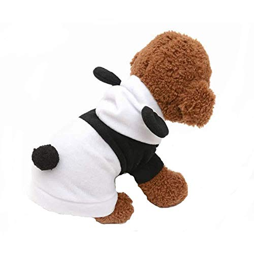 Art Kostüm Kleidung Pop - WINNER POP Pet Cute Panda Kostüm, Winter Warm Hood Coat, Geeignet für Hunde und Katzen Halloween, Weihnachten, Geburtstag, Party, Rollenspiele