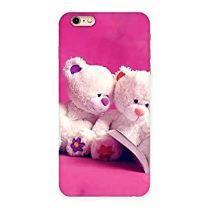Cute Twin Teddy Multicolor Back Case Cover for iPhone 6 Plus 6S Plus