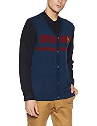 US Polo Assn. Men's Synthetic Sweater (8907378317704_USSW0636_XX-Large_Navy)