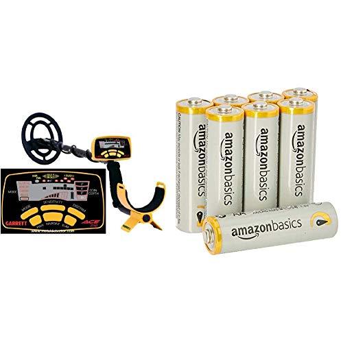 Garette 1139070 ACE 250 & AmazonBasics Performance Batterien Alkali, AA, 8 Stück (Design kann von Darstellung abweichen)