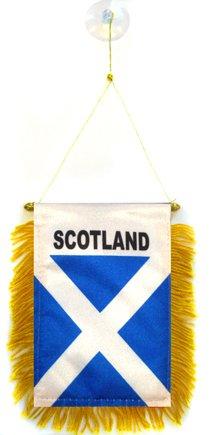 AZ FLAG Fanion Ecosse 15x10cm - Mini Drapeau écossais 10 x 15 cm spécial Voiture - Bannière