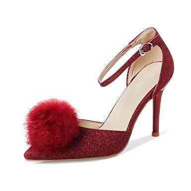 Zormey Frauen Schuhe Glitzer/Stiletto Heel/Schuhe Heels Hochzeit Schuhe/Party & Amp Abend-/Kleid Schwarz/Rot/Silber US6.5-7 / EU37 / UK4.5-5 / CN37