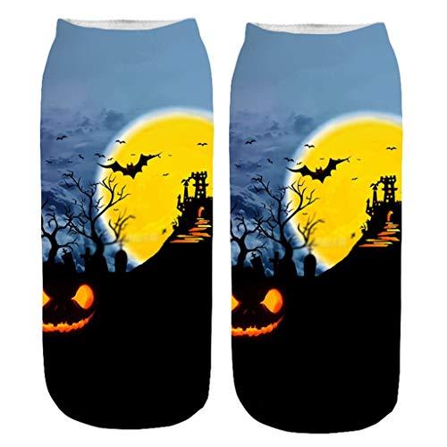 INLLADDY Costume Socken Kürbis Print Halloween Cosplay Deko Up Kostüm mittlere Größe J 20-22cm