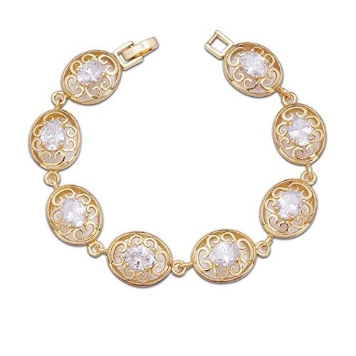 ca84bf1c3f55 pulsera oro amarillo de 18 kilates mujer con diamantes engarzados y envio  gratis 18k quilates k