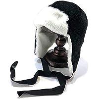 Gorros Gorro De Sombreros Gorras Calentar Cálido Unisex Beanie Gorro De Ciclismo De Invierno para Mujer Más Terciopelo A Prueba De Viento ZHANGGUOHUA (Color : Negro)