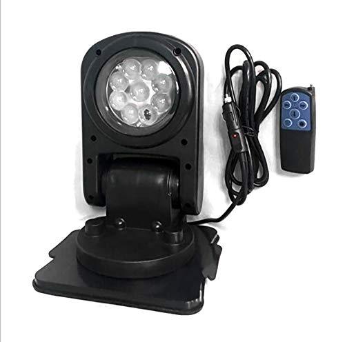 QXXZ LED-Klapp Leuchte Auto Remote Suchscheinwerfer 360 ° Rotation LED Rotierende Fernbedienungs Arbeit Light SUV Boot Notbeleuchtung Garten Etc