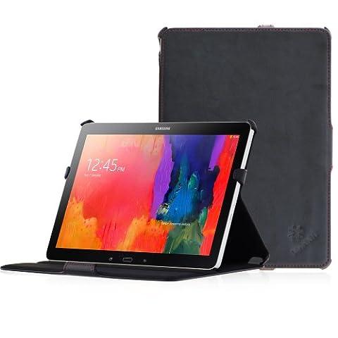 Manna - Étui/housse/coque de protection Ultra Slim pour Samsung Galaxy Tab Pro 10. 1 SM-T525N SM-T520N / En cuir synthétique de haute qualité / EasyStand et Autosleep / Couleur noir