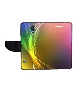 KolorEdge Printed Flip Cover For Samsung Galaxy S5 Multicolor - (50KeMLogo11849SamS5)