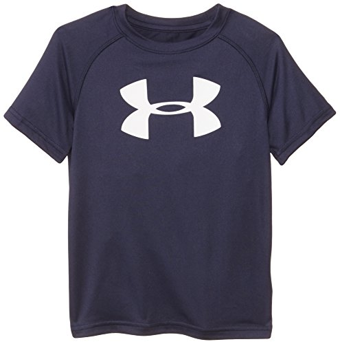 Short Sleeve Performance Raglan-t-shirt (Under Armour Toddler Boys' Big Logo Short Sleeve Tee Shirt, Midnight Navy, 3T)