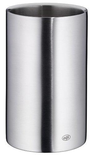 alfi 0457.205.100 Flaschenkühler Vino, Edelstahl mattiert, für 0,7 l oder 1,0 l Flaschen