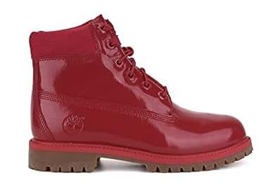 TIMBERLAND Damen-Schuhe Winterschuhe 6-Inch Premium Wasserfest Boots Freizeit Rot A151B, Größenauswahl:37.5