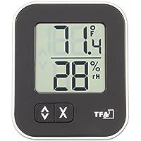 TFA Dostmann Moxx digitales Thermo-Hygrometer Moxx, 30.5026.01, zur Raumklimakontrolle, schwarz