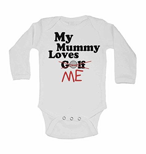 Ärmeln Golf (My Mummy Loves Me nicht Golf–personalisierbar Lange Ärmel Baby Westen Bodys Baby wächst für Jungen, Mädchen–weiß weiß weiß 2 - 3 Jahre)