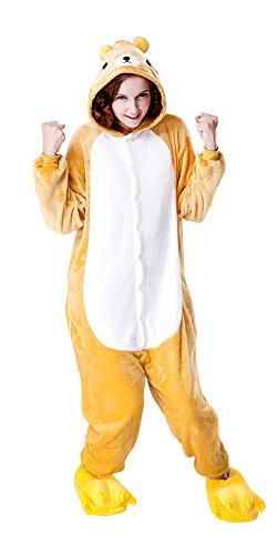 fit Halloween Kostüm Kigurumi Schlafanzug Erwachsene Japanische Tier Pyjama Bär Onesie (XL, Bär) (Bär Kostüm Für Halloween)