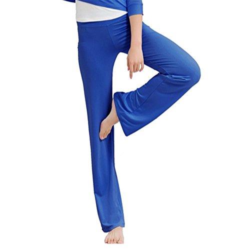 pantalons Femme de yoga / pantalon de formation de danse / pantalons de survêtement confortables Blue