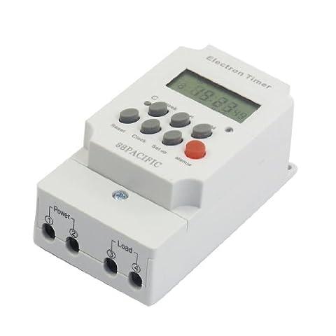 SODIAL(R) AC 220V 25A Commutateur electronique de minuterie programmable