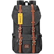 Fafada Canvas Nylon Vintage Rucksacke Laptoprucksack Damen Herren Schulrucksack Retro Backpack für Campus Studenten und Outdoor Reisen Wandern mit Großer Kapazität