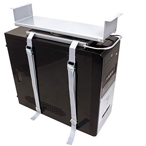 ROLINE PC Halterung Universal | Stabil und flexibel | Computer Halter in silber | Bis 20 Kg -