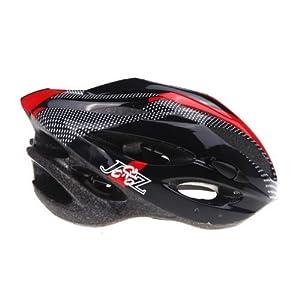 Casco de ciclista - JSZ visera de adulto casco de moto deportiva Rojo