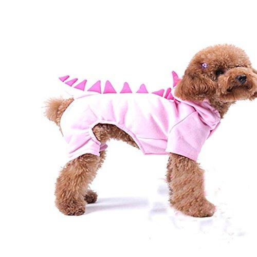 dikewang Fashion Pet Hund Halloween Coat Herbst Winter Warm Dick Fleece Hoodie Kleidung Schnappverschluß Puppy Kostüm Soft atmungsaktiv Jacke Kätzchen (Halloween Kürbis Aussparungen Für)